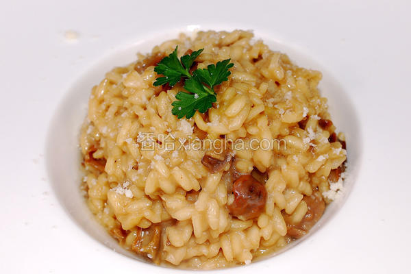 牛肝菌菇炖饭