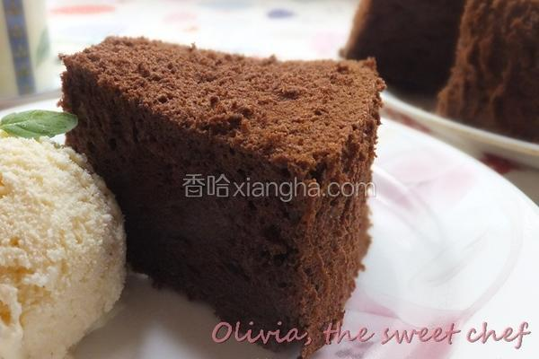 巧克力戚风蛋糕