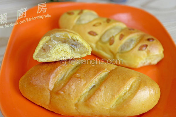 南瓜糯米面包