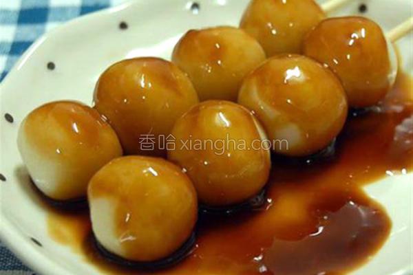 日式酱油串团子
