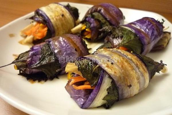 茄子紫苏卷
