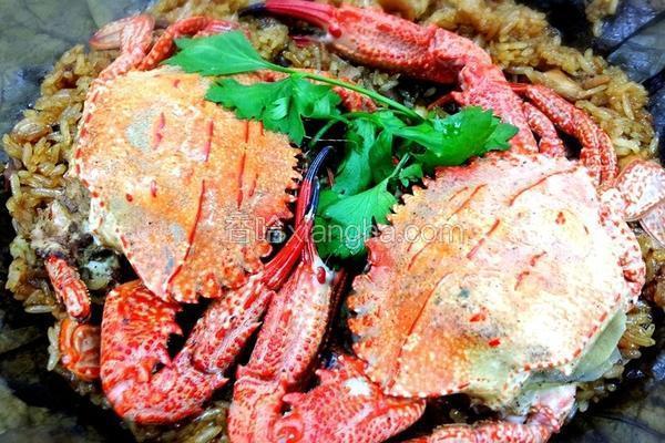荷叶糯米螃蟹