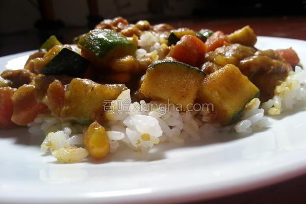 印度咖哩鸡肉烩饭的做法