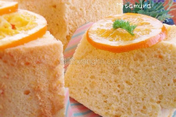橙香米粉戚风蛋糕