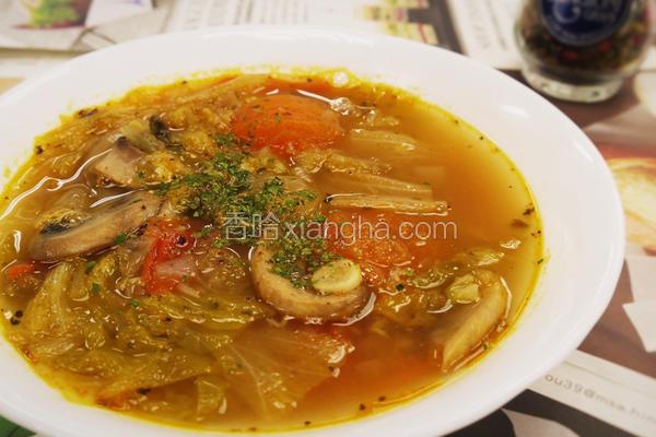 意式蔬菜蟹肉汤