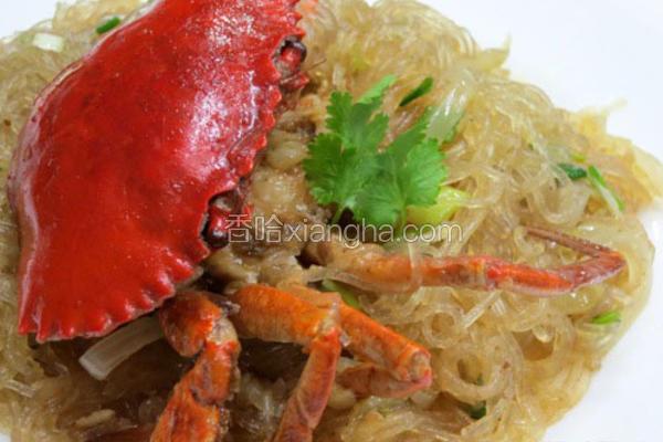 咖哩螃蟹粉丝煲