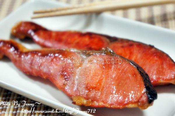干煎酱油鲑鱼