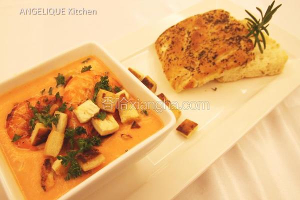龙虾红萝卜浓汤