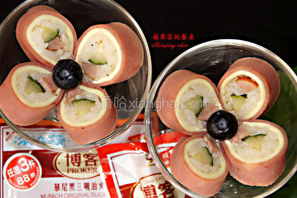 日式火腿起司饭团