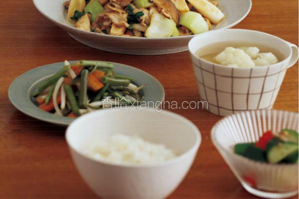 家常豆腐定食