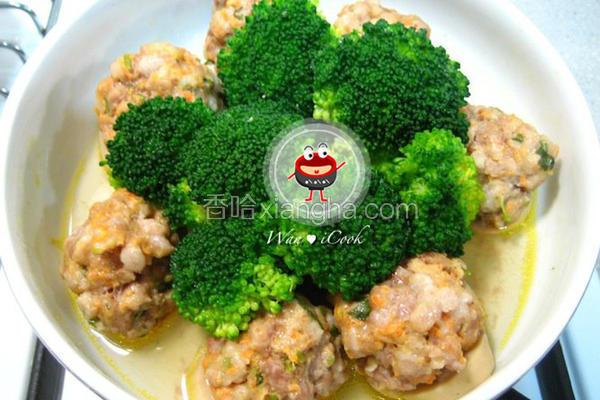 杏鲍菇蒸肉丸