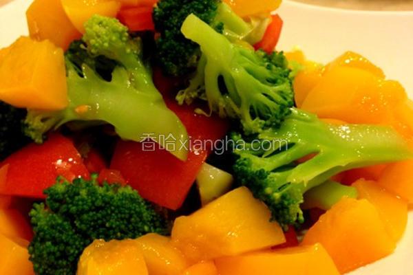风水蜜桃蔬菜沙拉