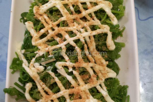 花生凉拌野菜蕨菜