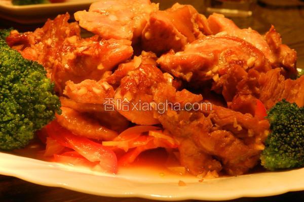 蒜香烤鸡肉