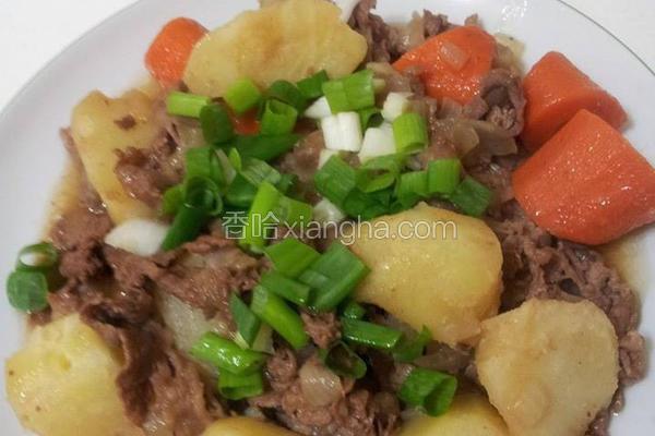 马铃薯炖牛五花