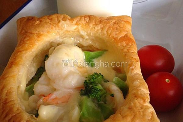 鲜虾花椰菜酥盒子