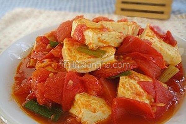 鲜茄蛋豆腐