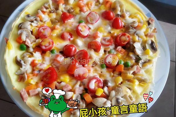 蛋皮菇菇披萨