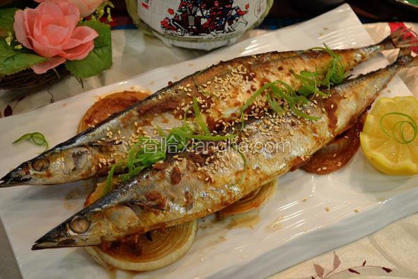 味噌烤秋刀鱼