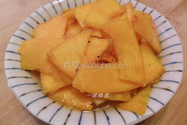 姜汁凉拌南瓜