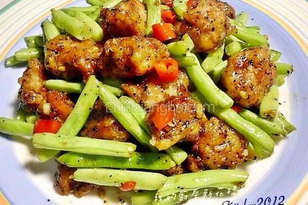 黑胡椒肉角四季豆