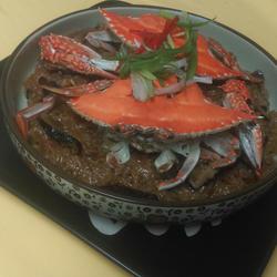 锯缘青蟹米糕的做法[图]