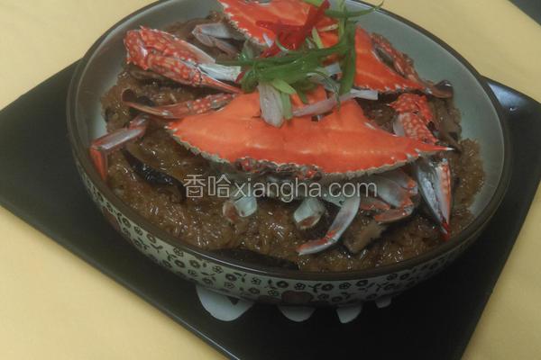 锯缘青蟹米糕