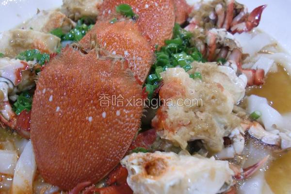 蒜蓉蒸旭蟹