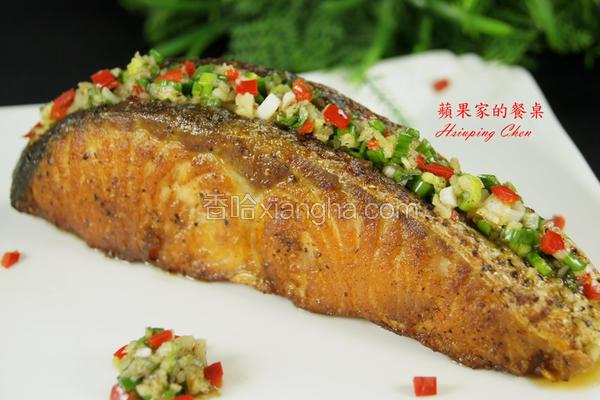 蒜香奶油鲑鱼
