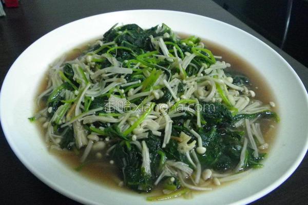 金针菇红苋菜的做法