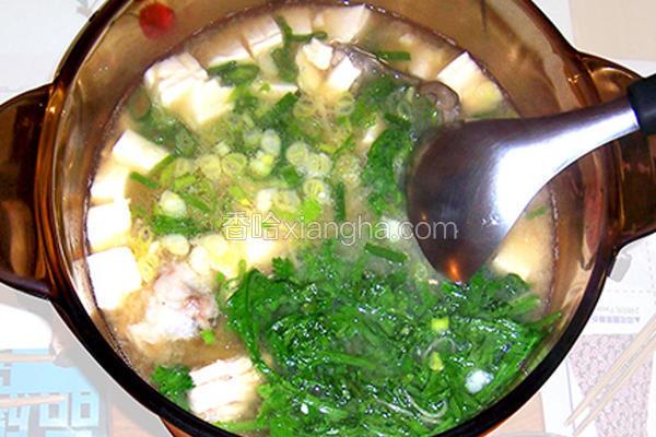 味噌豆腐鲜鱼汤