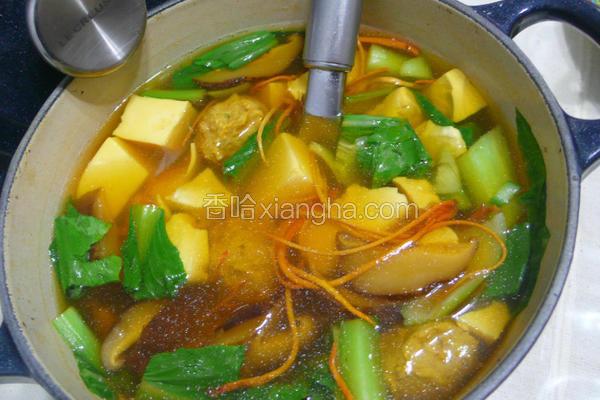 香菇虫草肉丸清汤