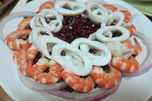 石榴海鲜沙拉