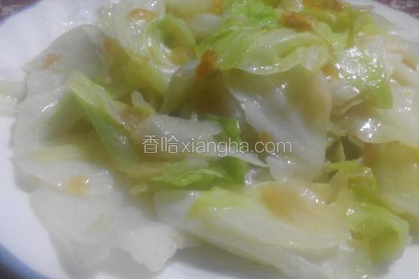 油葱炒高丽菜