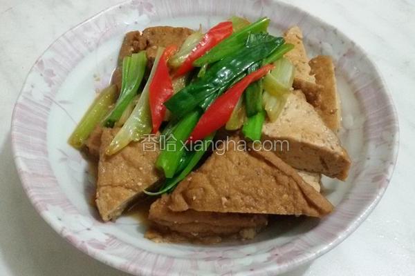 葱烧油豆腐