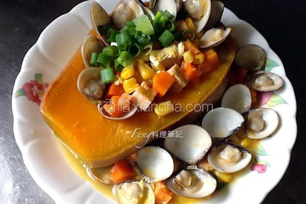南瓜盅蛤蛎浓汤