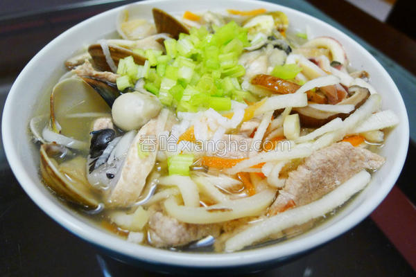 香菇笋丝海鲜粥