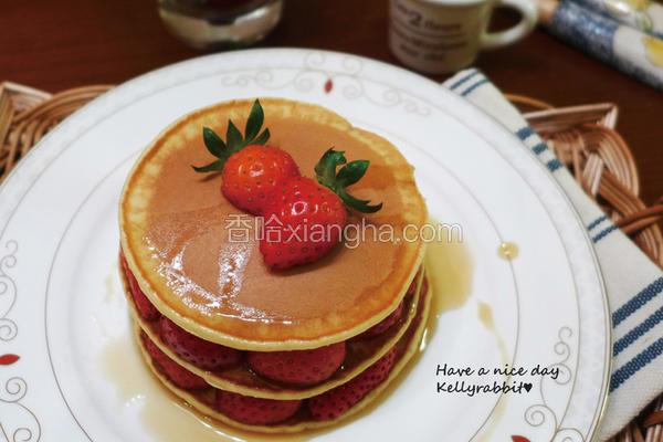 枫糖草莓松饼