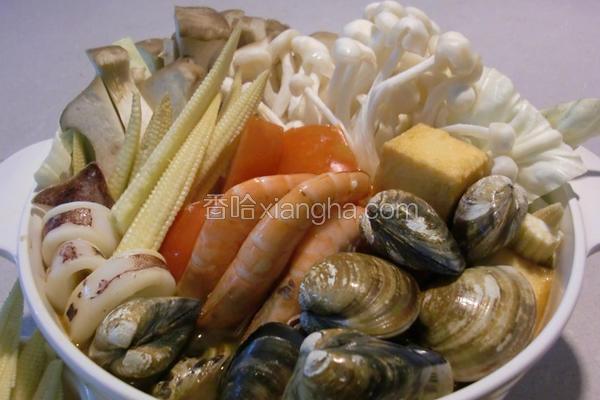咖哩海鲜锅