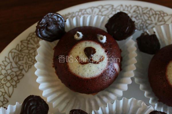 小熊巧克力蒸蛋糕
