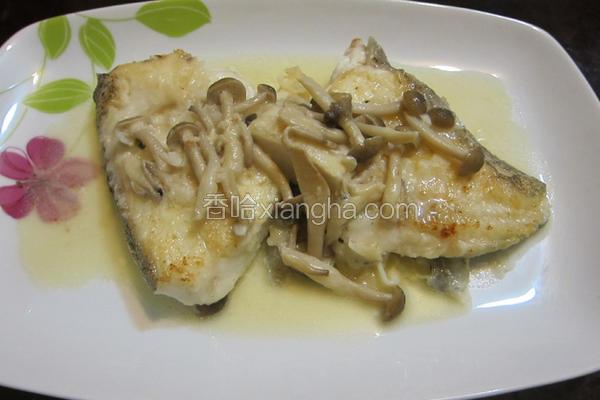 奶油蘑菇煎鳕鱼