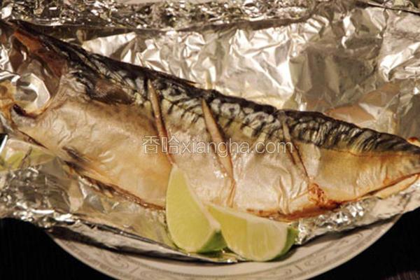 烤薄盐渍挪威鲭鱼