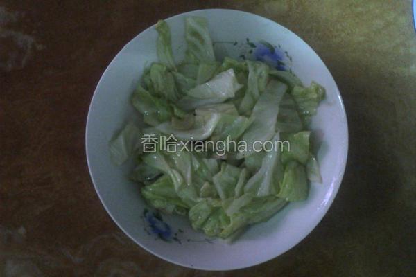 清炒高丽菜