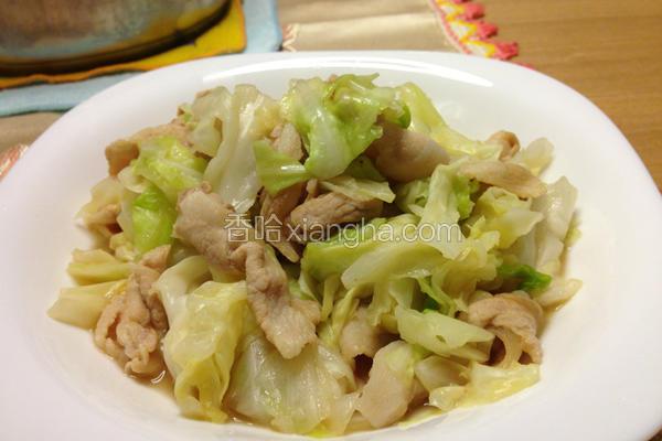 热炒猪肉高丽菜
