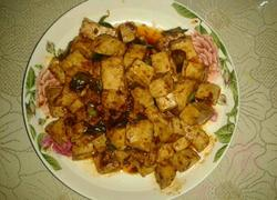 麻辣葱香豆腐