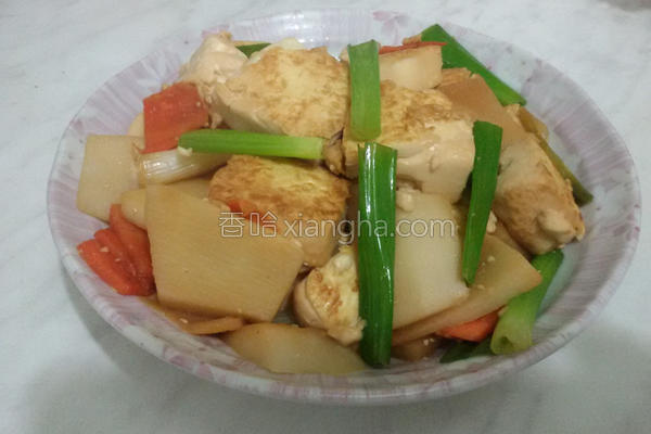 葱烧鸡蛋豆腐