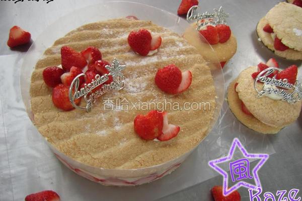 草莓白巧克力蛋糕