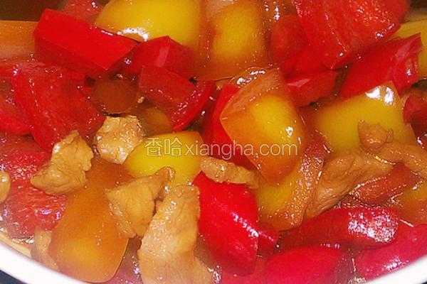 寿喜酱烧甜椒肉丁