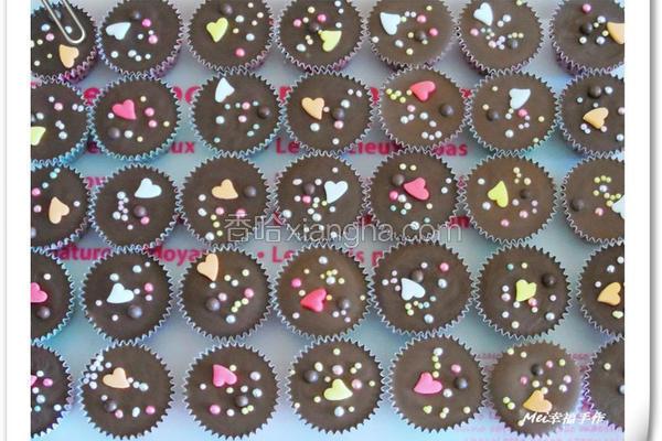 彩色糖果珠巧克力
