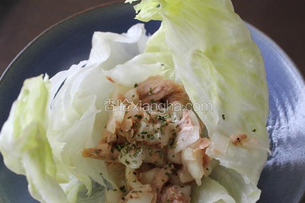 洋葱鲔鱼生菜花